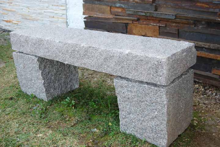 Blocos de granito 30x30cm pedras ouro e prata for Bancos de granito para jardin