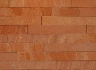 Filete de Pedra Arenito Vermelho Serrada 6 cm